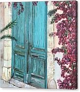 Old Blue Doors Acrylic Print