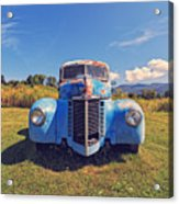 Old Blue Truck Vermont Acrylic Print