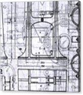 Old Blueprints Acrylic Print