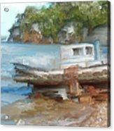Old Boat At China Camp Acrylic Print