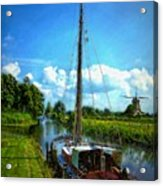 Old Boat In Holland Acrylic Print
