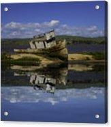 Old Boat Reflection Acrylic Print