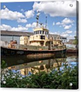 Old Boats Along The Exeter Canal 2 Acrylic Print