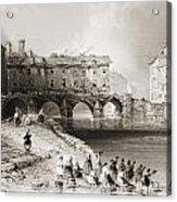 Old Boats Bridge, Limerick, Ireland Acrylic Print