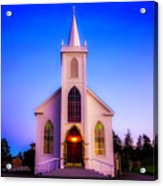 Old Bodega Church Sunset Acrylic Print