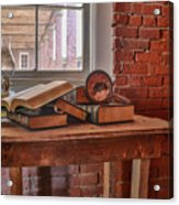 Old Books In Old Classroom Acrylic Print