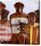 Old Bottles Acrylic Print