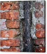 Old Brick Wall Abstract Acrylic Print