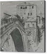 Old Bridge -mostar Acrylic Print