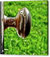 Old Brown Doorknob Acrylic Print