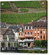 Old Buildings And Vineyards Acrylic Print