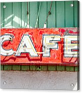 Old Cafe Sign Acrylic Print