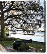 Old Cannon By The Sea Acrylic Print