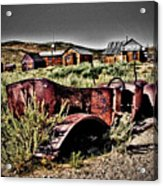 Old Car At Bodie Acrylic Print