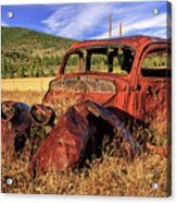 Old Car At Susanville Ranch Acrylic Print