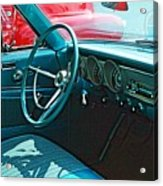 Old Car Interior Acrylic Print