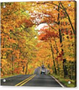 Old Car Tour To Copper Harbor Acrylic Print