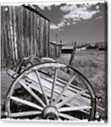 Old Cart And Building Bodie California Acrylic Print