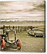Old Case Tractor Acrylic Print