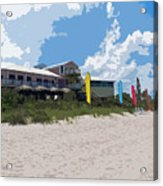 Old Casino On An Atlantic Ocean Beach In Florida Acrylic Print by Allan  Hughes