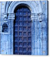 Old Cathedral Door In Barcelona Acrylic Print