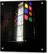 Old Catholic Church Window Acrylic Print