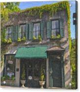 Old Charleston Gardens On 61 Queen Street Acrylic Print