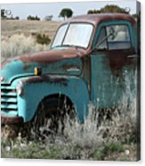 Old Chevy Farm Truck In The Field Acrylic Print