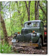 Old Chevy Oil Truck 1  Acrylic Print
