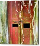 Old Chinese Village Door Eleven Acrylic Print
