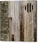 Old Chinese Village Door Series Fifteen Acrylic Print