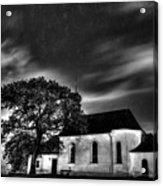 Old Church B/w  Acrylic Print