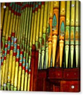 Old Church Organ Acrylic Print