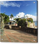 Old City In The Caribbean Acrylic Print