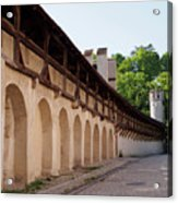 Old City Wall In St Alban Basel Switzerland Acrylic Print