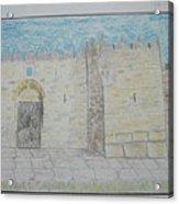 Old City.jerusalem.color Pencils 1992 Acrylic Print