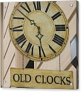 Old Clocks Acrylic Print