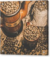Old Coffee Brew House Beans Acrylic Print