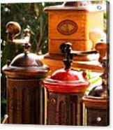 Old Coffee Grinders Acrylic Print