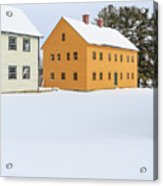 Old Colonial Wood Framed Houses In Winter Acrylic Print