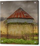 Old Corn Crib In The Cloudy Sky Acrylic Print