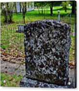 Old Country Cemetery Acrylic Print