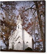 Old Country Church In Alabama Acrylic Print