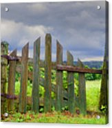 Old Country Gate Acrylic Print