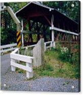 Old Covered Bridge In Pennsylvania  Acrylic Print