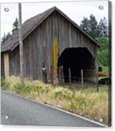 Old Cow Barn  Washington State Acrylic Print