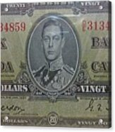 Old Currency  Acrylic Print