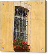 Old Decorated Window In Safed Acrylic Print