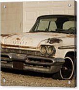 Old Desoto In Sepia Acrylic Print