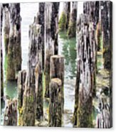 Old Dock Remains Acrylic Print